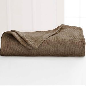 Martex cotton diagonal-weave twin blanket pine